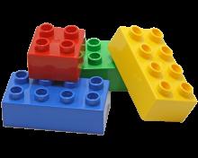colored children's blocks