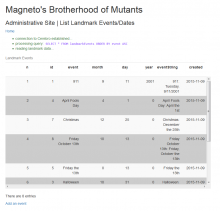 Magneto's Landmark Events Table - Bootstrap3 Style!