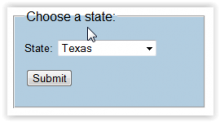 State Selection Form